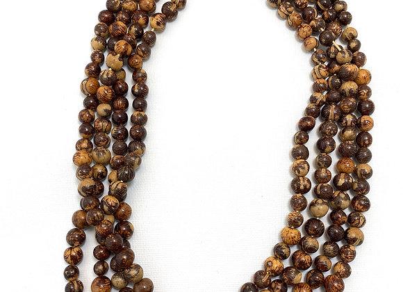 Acai Necklace - 4 strands, Natural