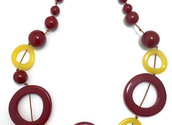 Bohemia Necklace - Red/yellow