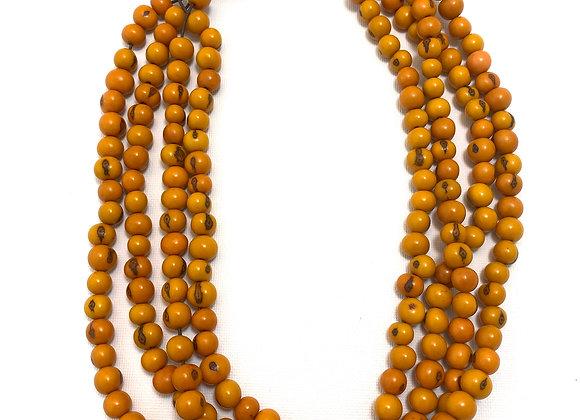 Açai Necklace - 4 strands, Orange