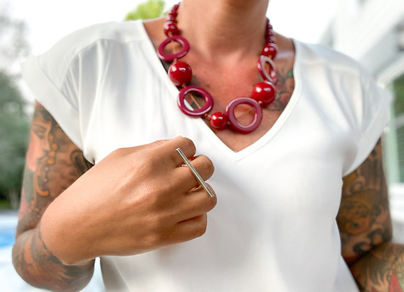 Bohemia Necklace/short - Red