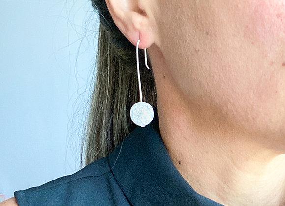 Earrings - Pendant White Stone