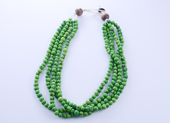 Acai Necklace - 4 strands,Green