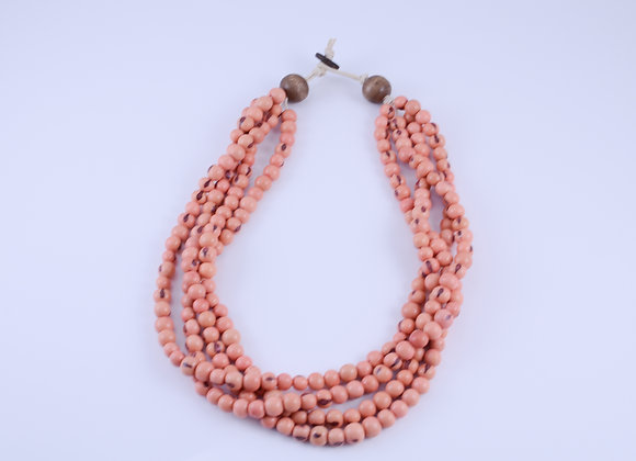 Acai Necklace - 4 strands, Light Pink
