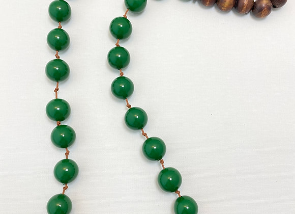 Necklace Long- Resin green