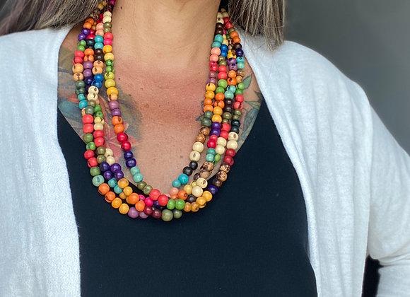 Acai Necklace - 4 strands, Multi Colors