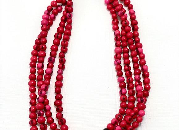 Acai Necklace - 4 strands Red