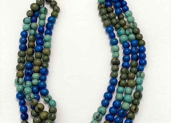 Acai Necklace - 4 strands, Blue/Green