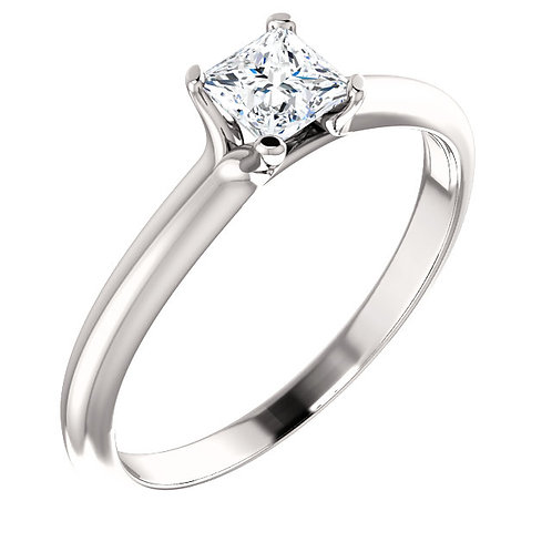 14K White Gold 3/8 CTW Diamond Engagement RIng