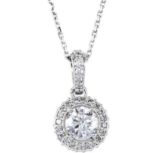 "14K White 3/4 CTW Diamond 18"" Necklace"