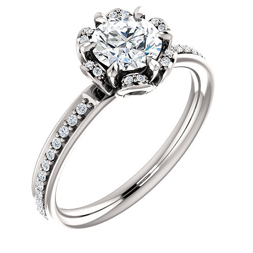 10K White Gold 1/6 CTW Diamond Engagement Ring