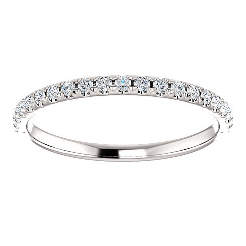 14K Yellow 1/5 CTW Diamond French-Set Anniversary Band