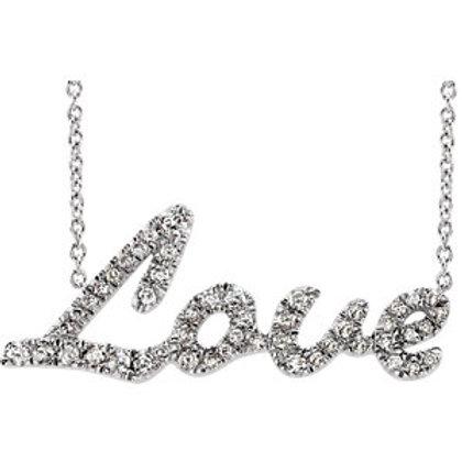 "14K White 1/5 CTW Diamond 18"" Necklace"