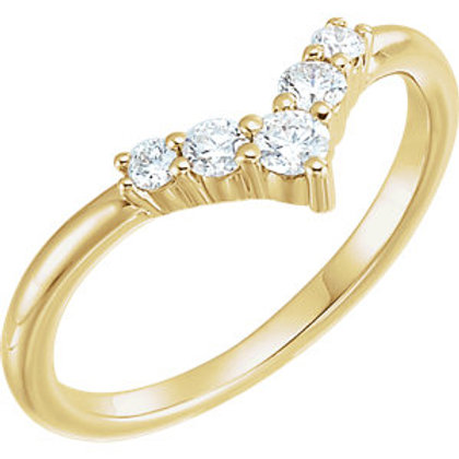 "14K Yellow 1/4 CTW Diamond Graduated ""V"" Ring"