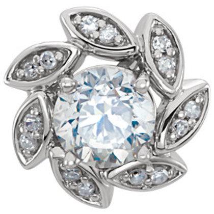14K White 1/10 CTW Diamond Earring Jackets