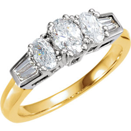 14K Yellow & White 9/10 CTW Diamond Anniversary Band