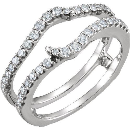 14K White 1/2 CTW Diamond Ring Guard