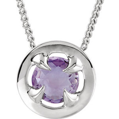 "18K Vermeil Amethyst 16-18"" Necklace"