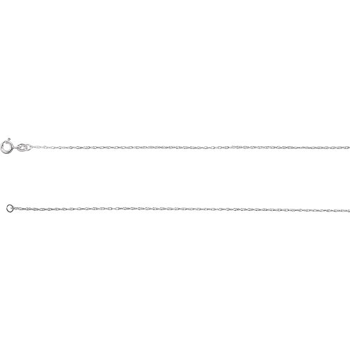 """Sterling Silver .85mm Rope 18"""" Chain with Spring Ring"""