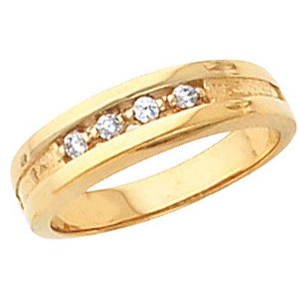 14K Yellow 1/3 CTW Diamond Band Size 11