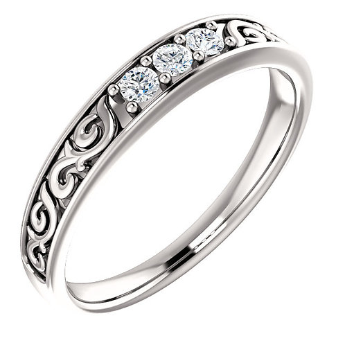 Platinum 1/5 CTW Diamond Men's Ring