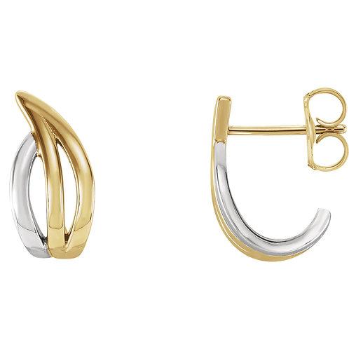 Freeform J-Hoop Earrings