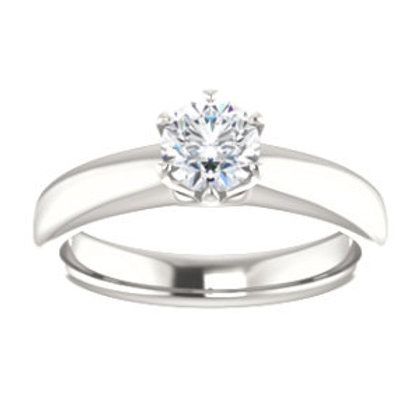 Continuum Sterling Silver 1/6 CTW Diamond Engagement Ring