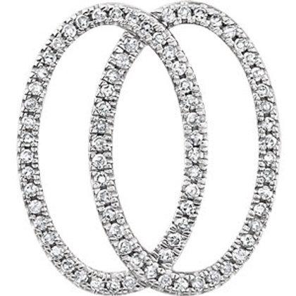 14K White 1/5 CTW Geometric Diamond Pendant