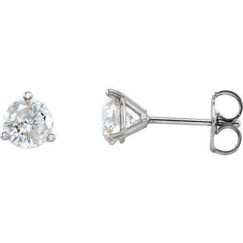 14K White Gold 1/2 CTW Diamond Stud Earrings