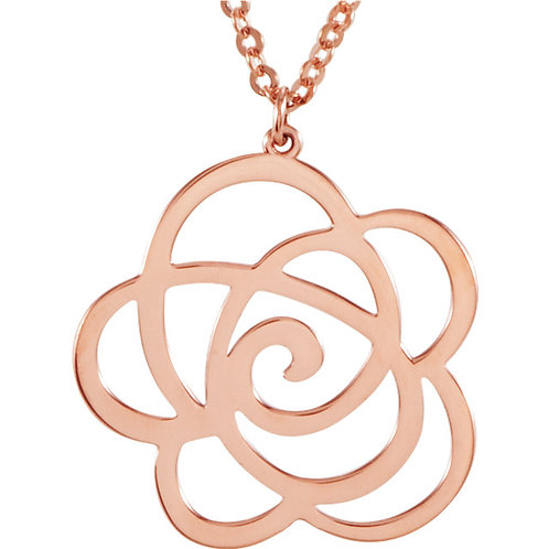 14K Rose Gold Floral-Inspired Necklace