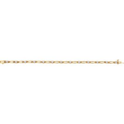 "14K Yellow 1 1/3 CTW Diamond Line 7.25"" Bracelet"