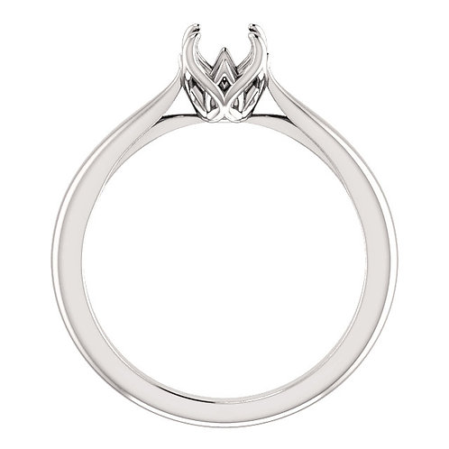 14K White Gold 5.8mm Round Solitaire Engagement Ring Mounting