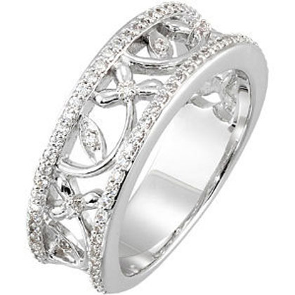 Platinum 3/8 CTW Diamond Anniversary Ring