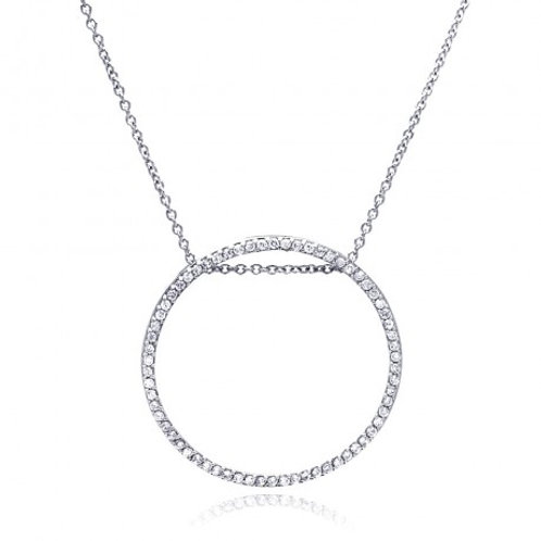 Wholesale Silver CZ Necklace .925 Ladies Sterling Jewelry