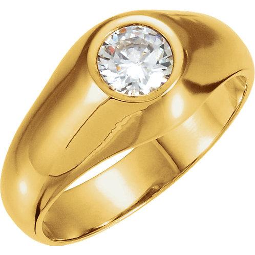 10K Yellow 5.2mm Round Ring Mounting