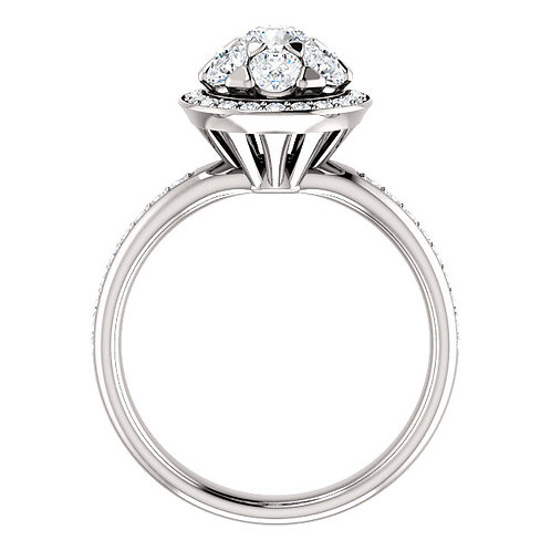 14K White Gold 1 1/8 CTW Diamond Engagement Ring