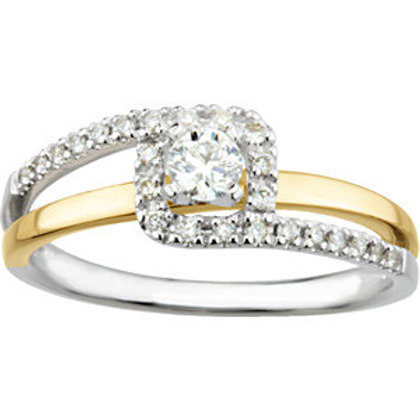 Bypass-Style Engagement Ring or Band