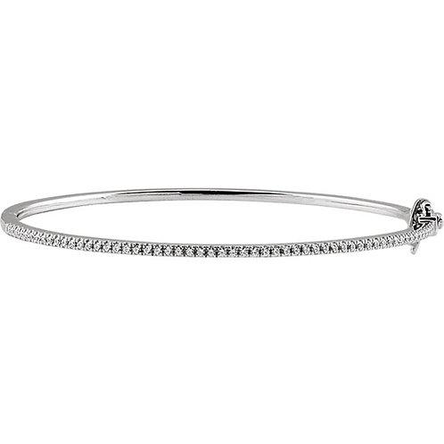 "14K White 1/2 CTW Diamond Pave 7"" Bracelet"