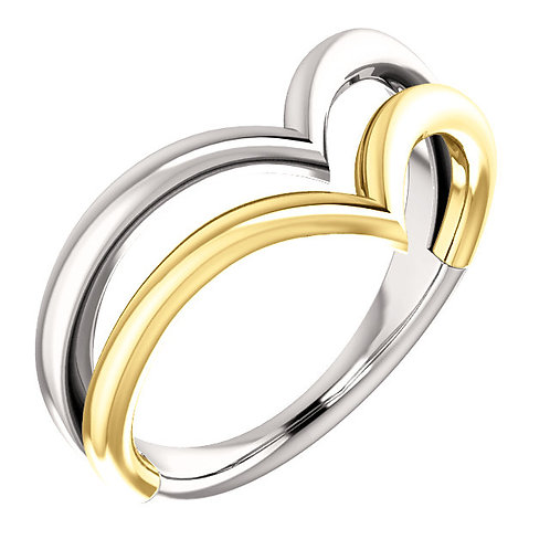 """Double """"V"""" Ring"""