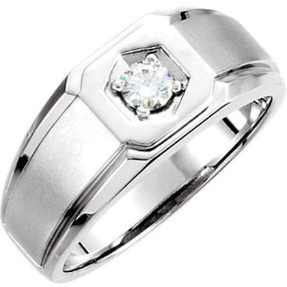 Charles & Colvard Moissanite® Men's Solitaire Ring