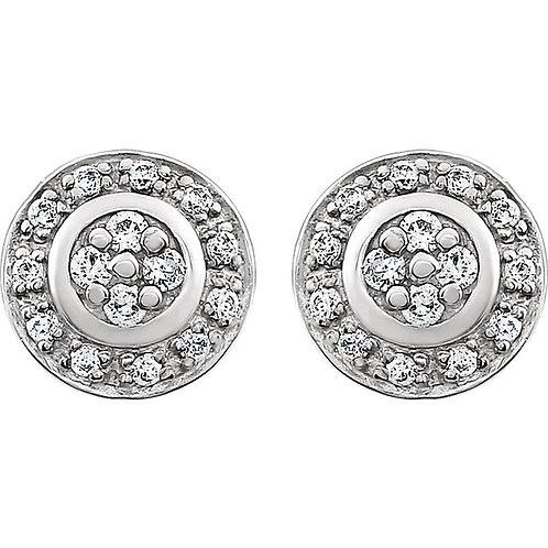 14K White 1/5 CTW Diamond Earrings