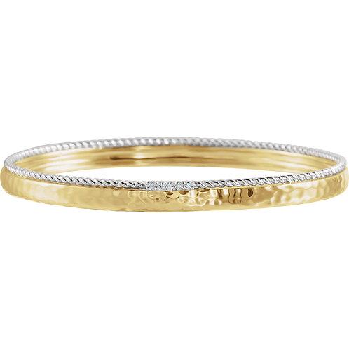 Accented Bangle Bracelet