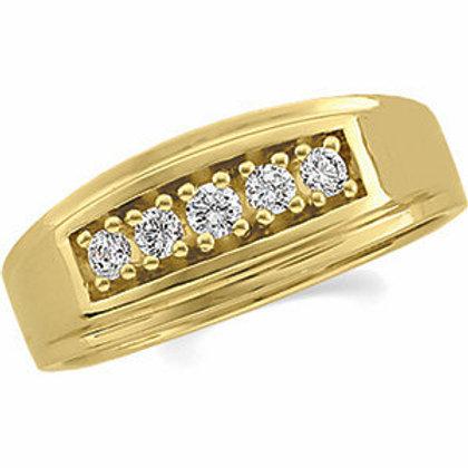 14K Yellow 1/3 CTW Diamond Ring