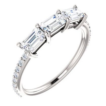 14K White 1 5/8 CTW Diamond Engagement Ring