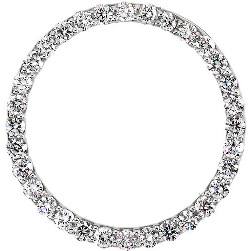 Platinum 1/2 CTW Diamond Circle Pendant