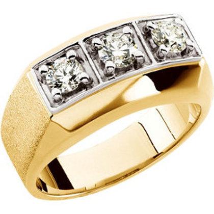 Men's Three-Stone Ring