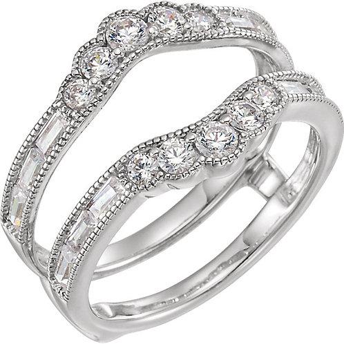 Platinum 1 CTW Diamond Accented Ring Guard