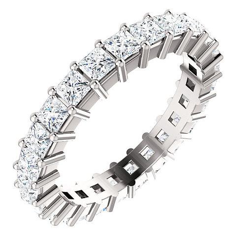 14K White 2 5/8 CTW Diamond Eternity Band