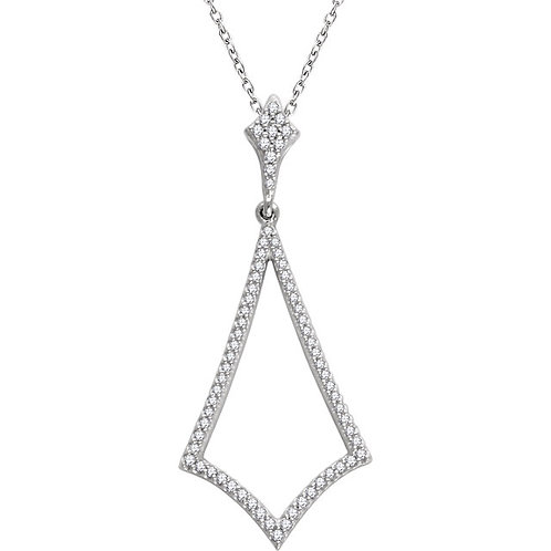"14K White 1/4 CTW Diamond 18"" Necklace"