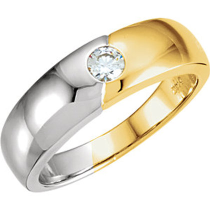 Men's Bezel Solitaire Band