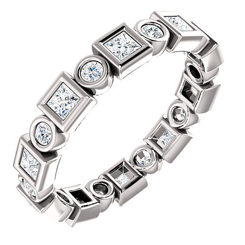 14K White Gold 3/4 CTW Diamond Eternity Band